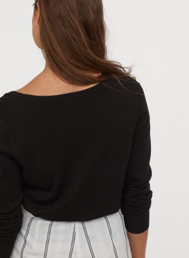 Fijngebreide trui