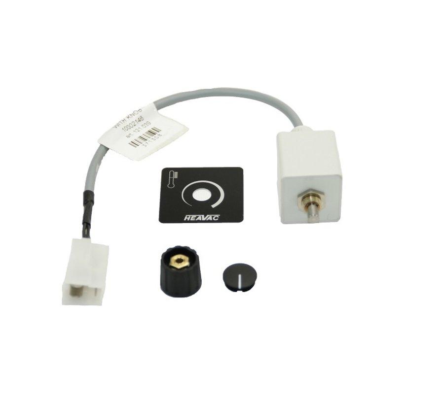 Instelknop met kabel en steker