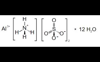 Sulfato de aluminio y amonio dodecahidratado