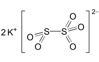 Metabisulfito de potasio