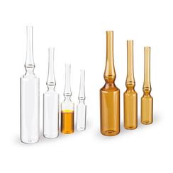Ampollas de vidrio marrón con cremallera