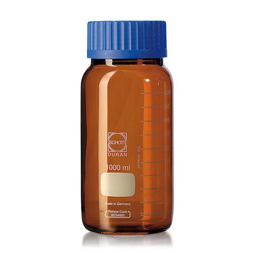 Botella de cuello ancho DURAN® GLS 80 Vidrio marrón