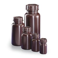 botella de cuello ancho marrón