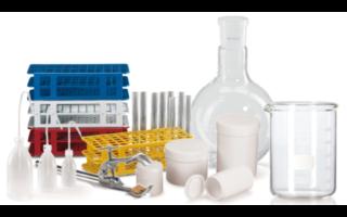 Vidrio de laboratorio, barriles, consumibles