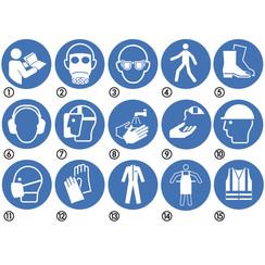 Gebotszeichen nach ISO ø 100 mm.