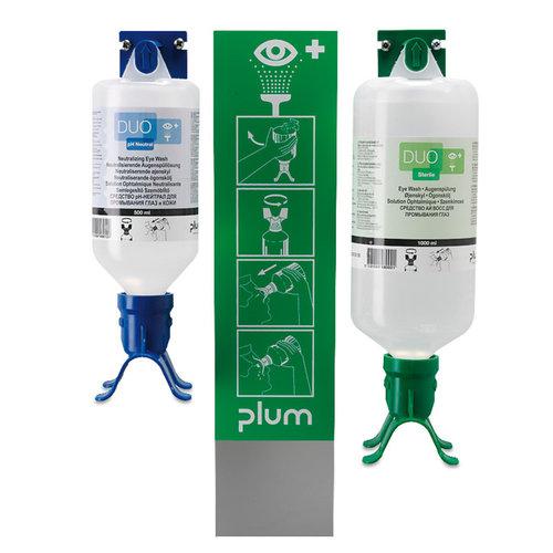 Augenspülstation DUO Wandhalterung mit 2 DUO-Flaschen