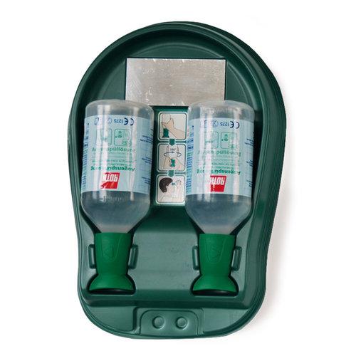 Augenspülstation Wandbox mit 2 Flaschen