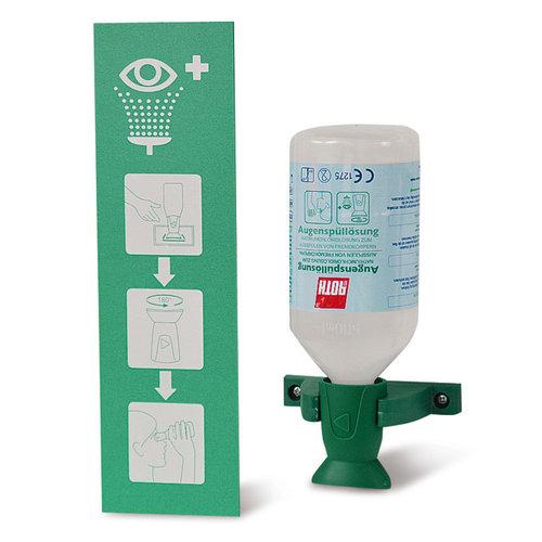 Augenspülstation Single Wandhalterung mit 1 Flasche