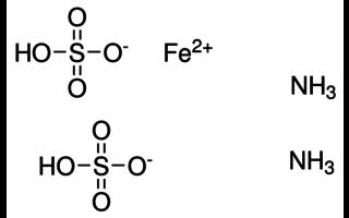 Sulfato de amonio y hierro (II)