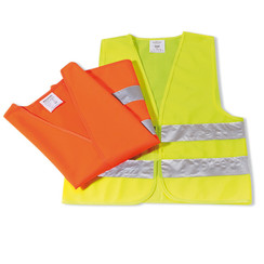 Safety vest two reflective strips