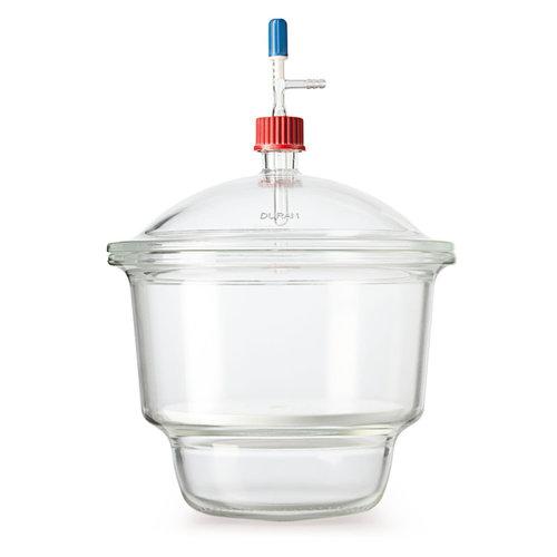 Exsiccatorset DURAN® Type MOBILEX met schroefdraad GL 32 en kraan in het deksel