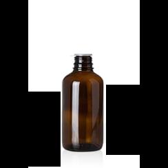 Bruine glazen fles, dikwandig