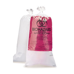 Disposal bags BIOHAZARD with indicator patch