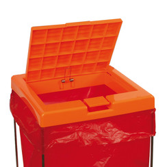 Lid for disposal bag stand