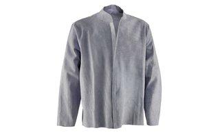 Split and full grain leather clothing