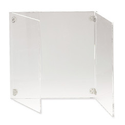 Protective screen with side panels