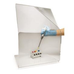 Escudo de protección radiológica doblado