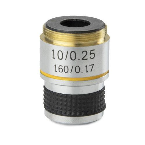 Achromatisches 10x / 0,25 Objektiv. Parafokal 35 mm