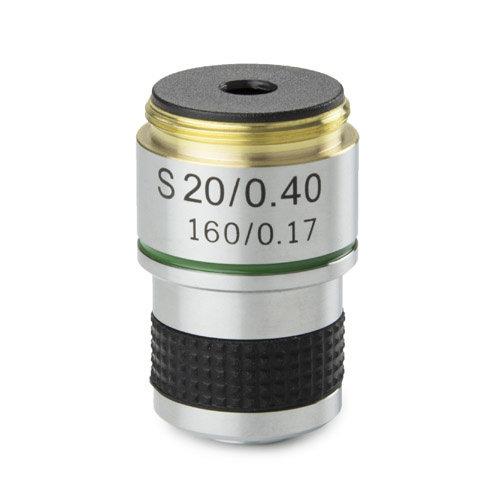 Achromatisch 20x/0,40 objectief. Parafocaal 35 mm