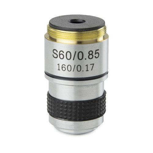 Achromatisches S60x / 0,85 Objektiv. Parafokal 35 mm