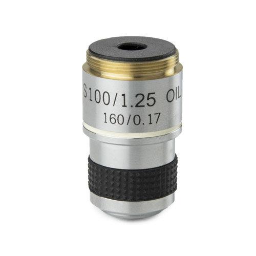 Achromatisch S100x/1,25 objectief. Parafocaal 35 mm