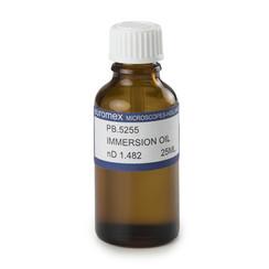 Immersie-olie, brekingsindex n = 1,482. Flesje van 25 ml