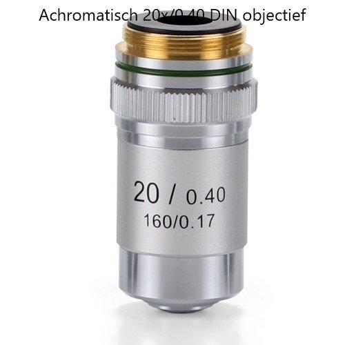 Achromatisch 20x/0,40 DIN objectief. Parafocaal 45 mm