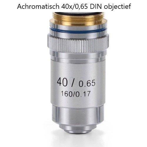 Achromatisch 40x/0,65 DIN objectief. Parafocaal 45 mm