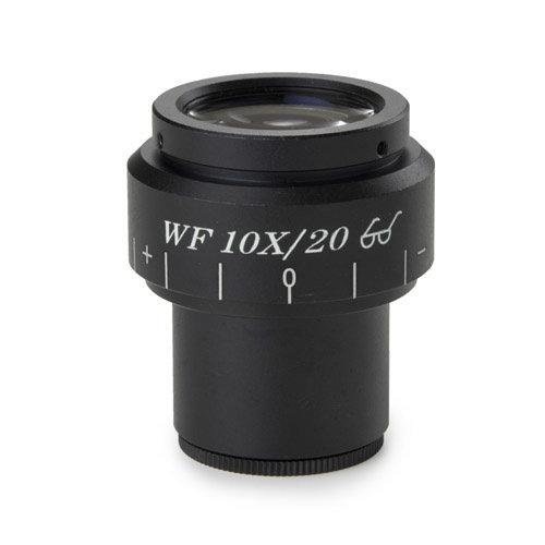 Groothoek WF 10x/20 mm micrometer oculair met focusseerbare lens, Ø 30mm tubus