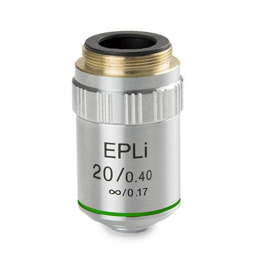 E-Plan EPLi 20x / 0,40 unendlich korrigiertes IOS-Objektiv. Arbeitsabstand 2,61 mm