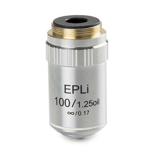 E-Plan EPLi S100x / 1.25 Ölimmersion unendlich korrigiertes IOS-Objektiv. Arbeitsabstand 0,36 mm