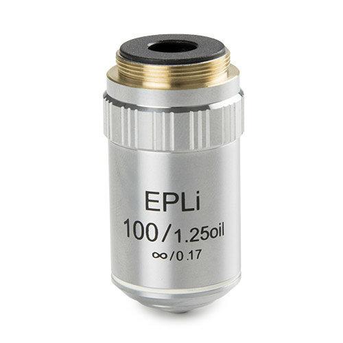 E-plan EPLi S100x/1,25 olie- immersie oneindig gecorrigeerd IOS objectief. Werkafstand 0,36 mm