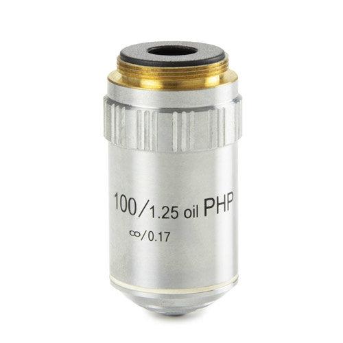 E-Plan fase EPLPHi S100x/1,25 olie-immersie oneindig gecorrigeerd IOS objectief. Werkafstand 0,36 mm