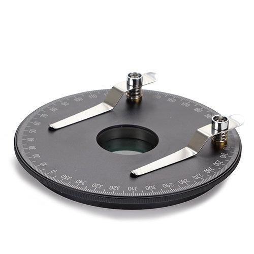 360° draaibare ronde tafel met ingebouwd polarisatiefilter