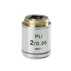 Plan PLi 2x / 0.05 IOS objetivo corregido al infinito, sin corrección del cubreobjetos. Distancia de trabajo 18,3 mm