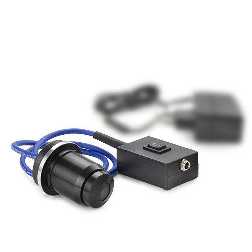 cardioïde-spiegel olie-immersie condensor met geïntegreerde 5 W NeoLED™-verlichting en externe 100-240 V netadapter