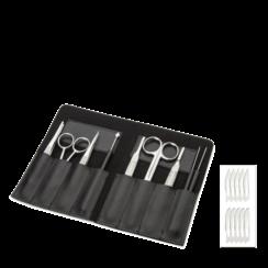 Kit de disección de 9 piezas en estuche imitación cuero PB.5112