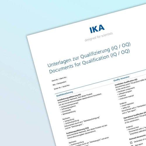 Documents for Qualification (IQ/ OQ) LAB
