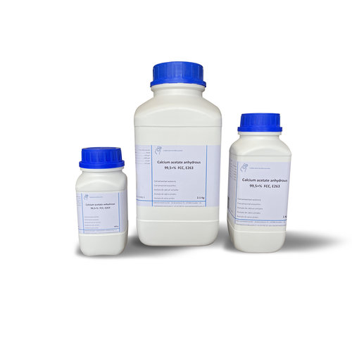 Acetato de calcio 99,5 +%, FCC, grado alimenticio, E263