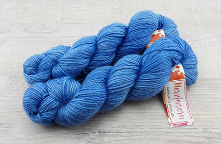 Alpaka/Seide -  Himmelblau