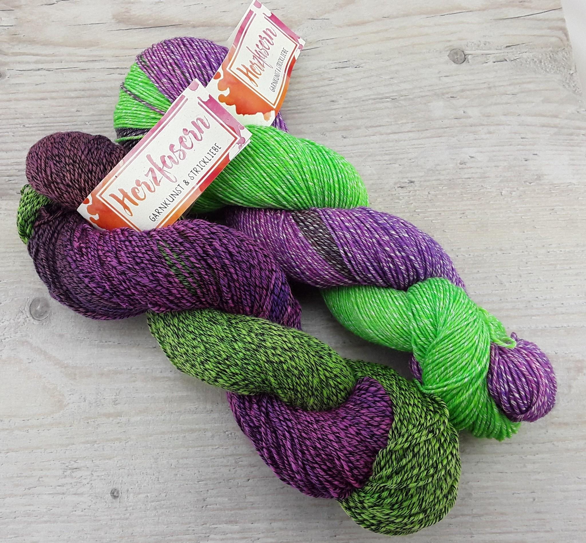 Sockenwolle mit Baumwollanteil - Lavendelfeld