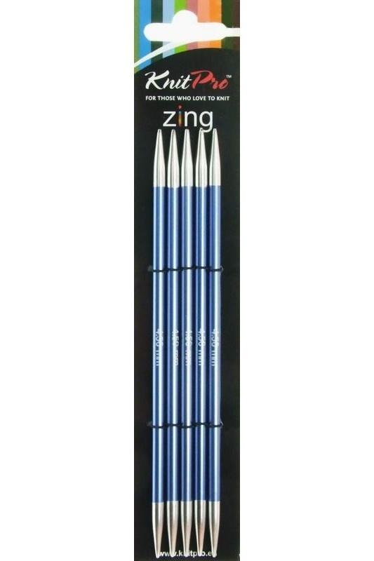 Knit Pro Zing KnitPro Zing Nadelspiel 4,5 mm - 15 cm