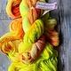 Herzfasern Lace Merino 600 - Lemon-Orange-Spreckles