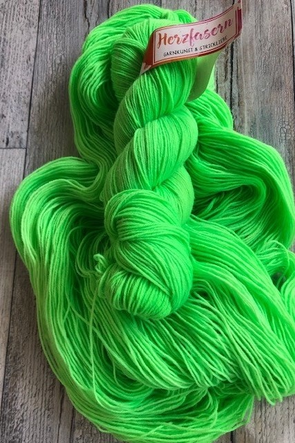 Herzfasern Sockenwolle - Kelly Green
