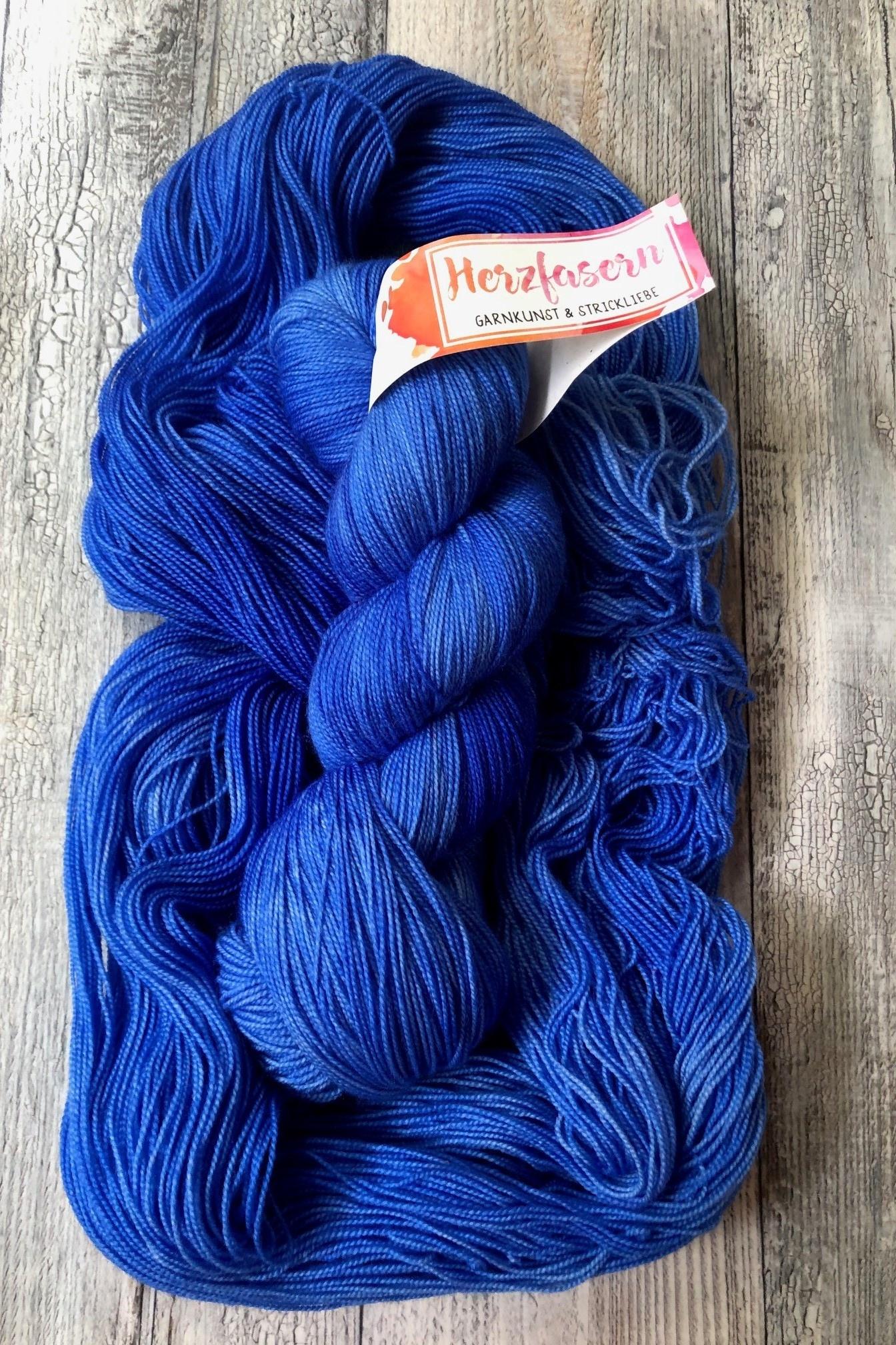 Herzfasern Lace Merino 600 -Einfach Blau