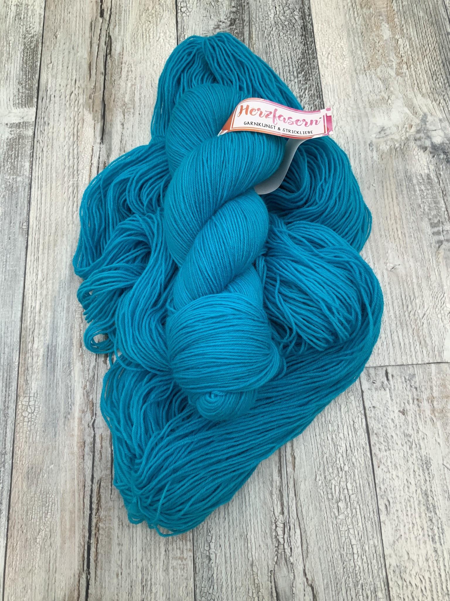 Herzfasern Sockenwolle - Türkis