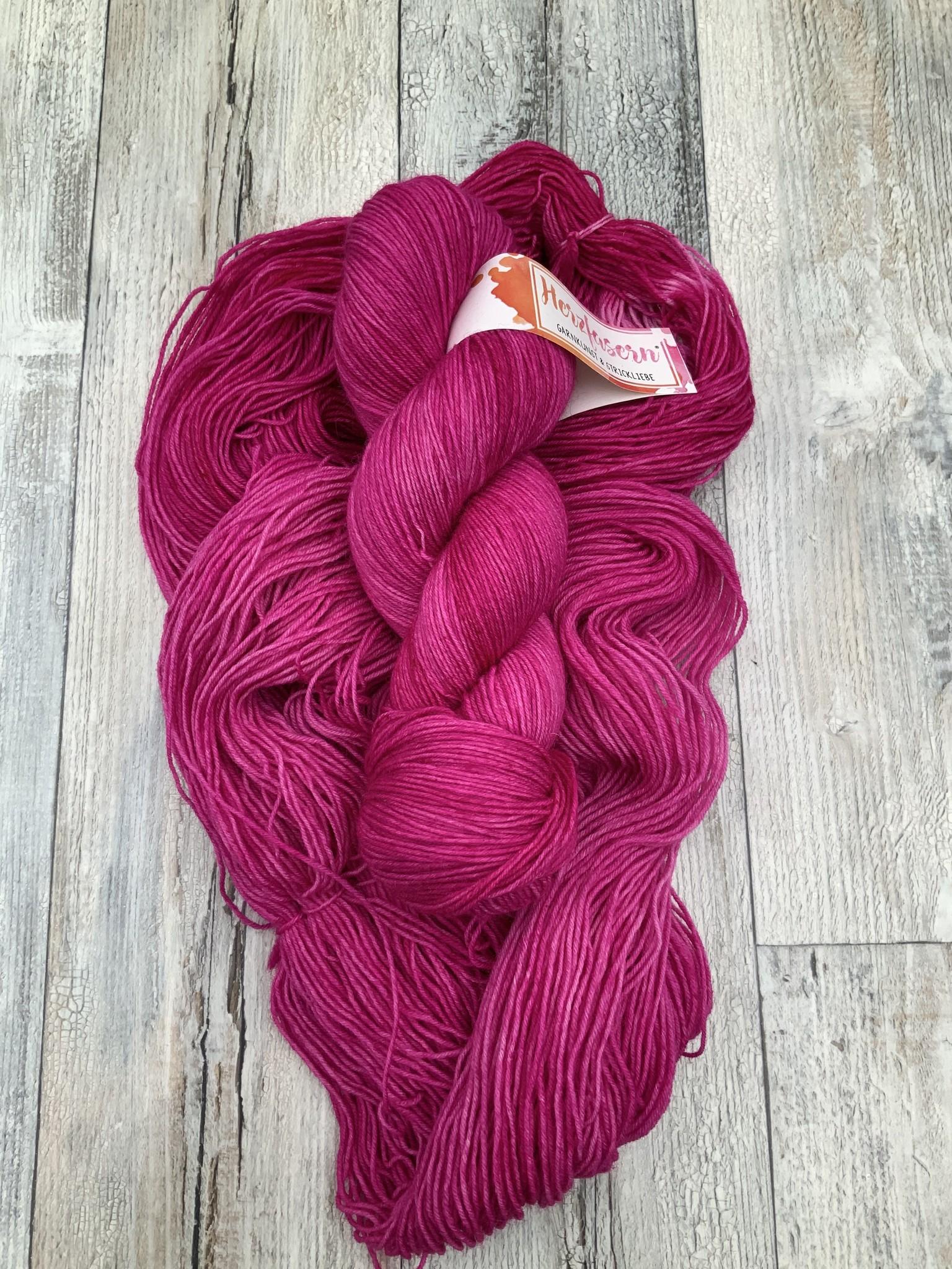 Herzfasern Sockenwolle - Berry