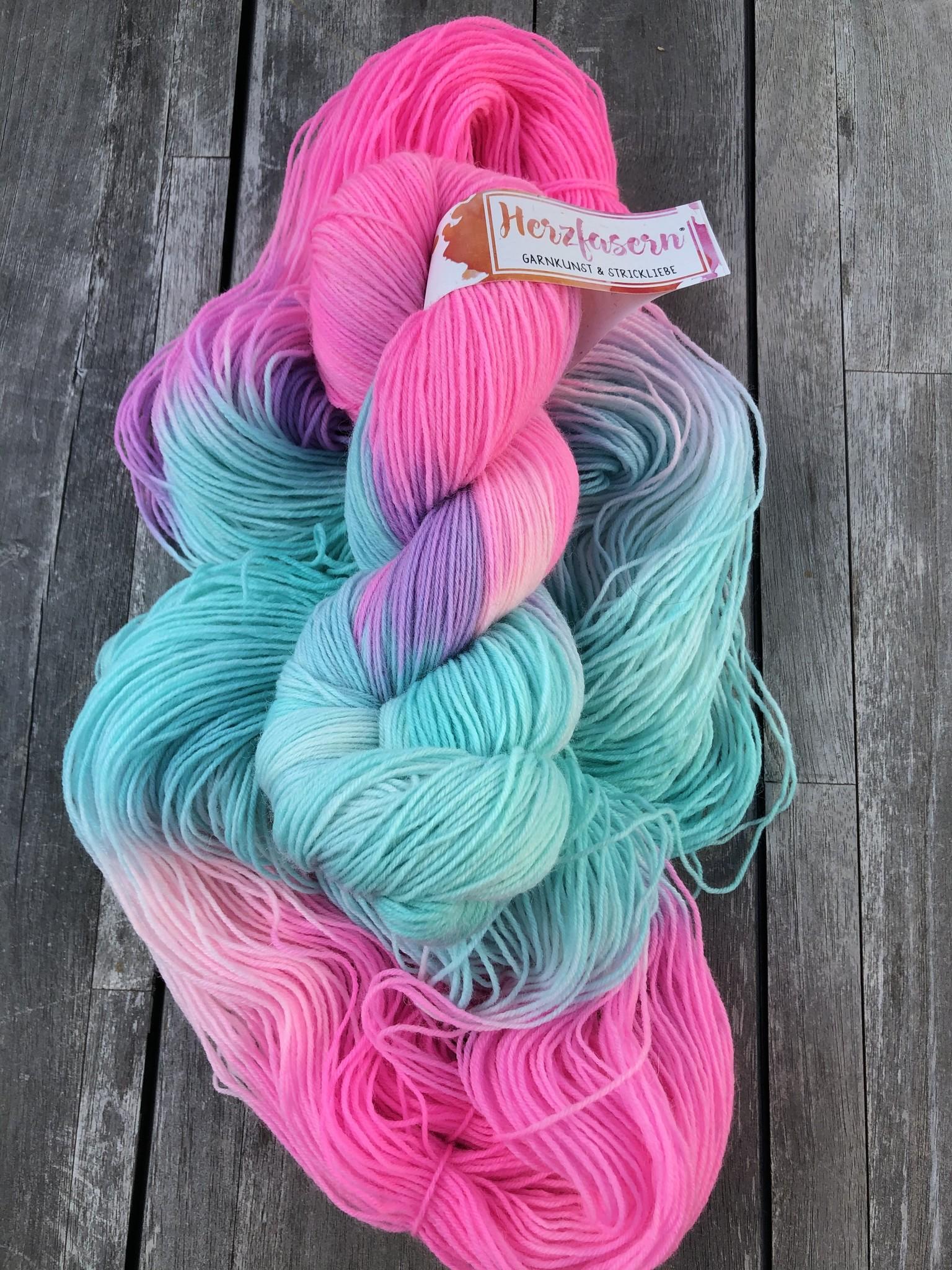 Herzfasern Sockenwolle - Einhorn
