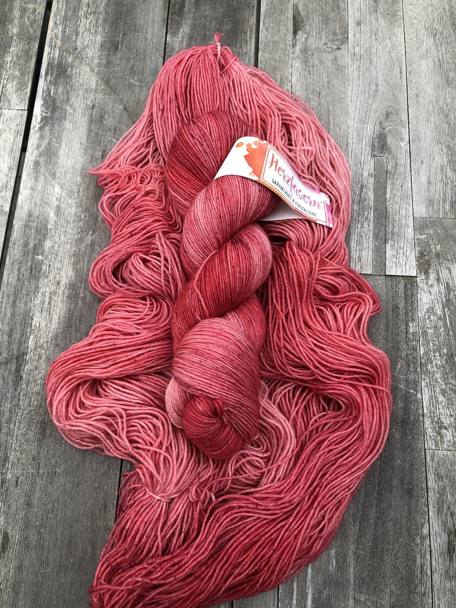 Herzfasern Sockenwolle - Ruby