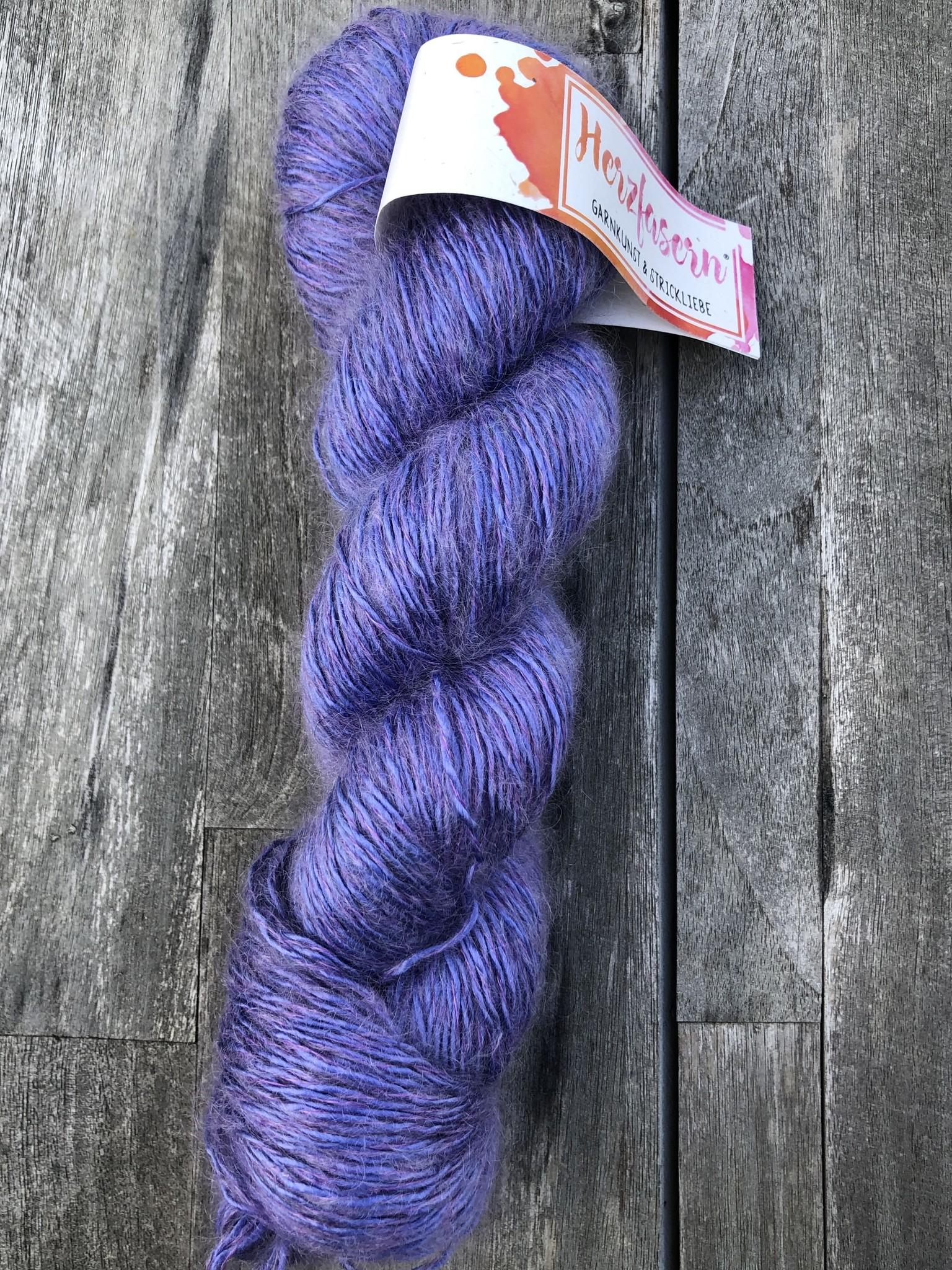 Herzfasern Seide/Mohair - Indigo Violett